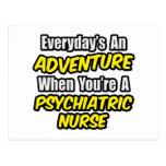 Diario una enfermera de Psych de la aventura… Tarjetas Postales