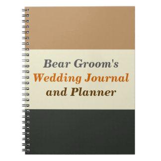 Diario y planificador simplificados del novio de spiral notebooks