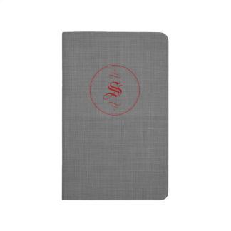 Diarios de encargo elegantes del bolsillo del cuadernos grapados