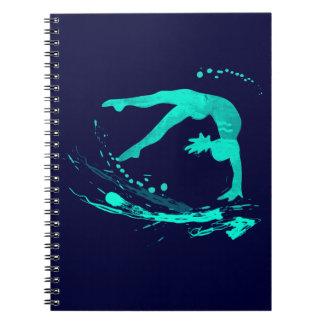 Diarios de los cuadernos de la gimnasia de la aleg