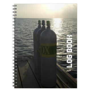 Diarios de operación de la zambullida de los tanqu spiral notebook