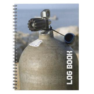Diarios de operación de la zambullida del tanque d libros de apuntes
