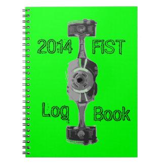 Diarios de operación del mantenimiento del libro de apuntes