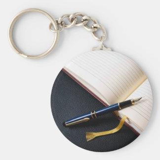 Diary book key chains