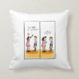 DIARY cartoon by Ellen Elliott Throw Pillow