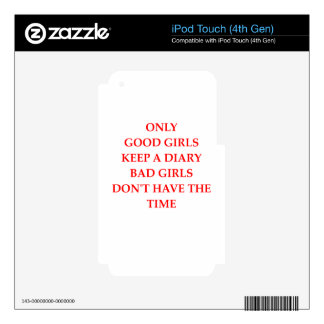 DIARY iPod TOUCH 4G DECAL