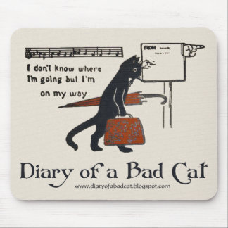 Diary of a Bad Cat Mousepad (Vintage Black Cat)