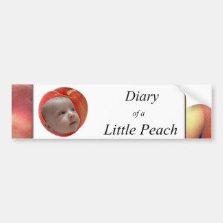 Diary of a Little Peach Bumper Sticker