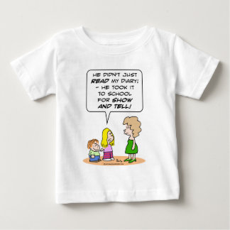 diary school show and tell baby T-Shirt