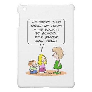 diary school show and tell iPad mini case