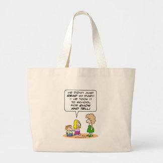 diary school show and tell jumbo tote bag