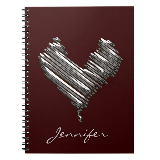 Diary with custom name spiral note book
