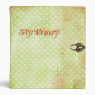 Diary with Graphic Heart Lock 3 Ring Binder