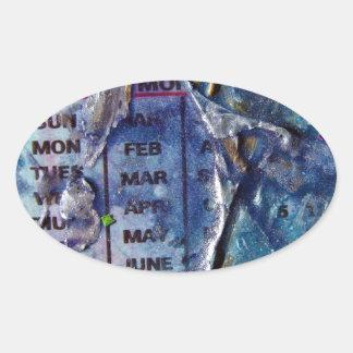 Días abstractos pegatina ovalada