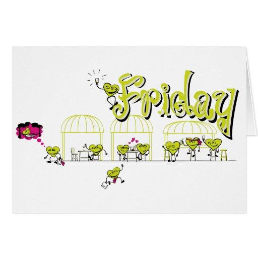 Dias da Semana - Friday - cartão