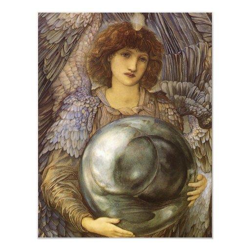 Días de 1r día de la creación, Burne Jones, arte Invitación 10,8 X 13,9 Cm