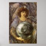 Días de 1r día de la creación, Burne Jones, arte Póster