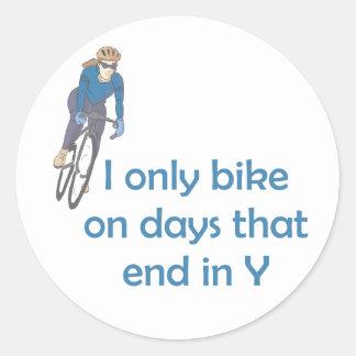 Días de BikeChick Pegatina Redonda