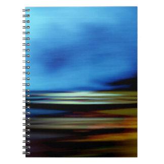 Días de fiesta abstractos del crepúsculo del spiral notebook
