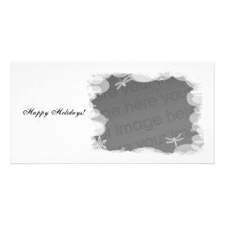¡Días de fiesta blancos como la nieve! Tarjeta Con Foto Personalizada