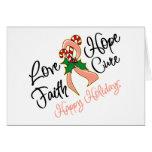 Días de fiesta de la esperanza del amor del cáncer tarjeta de felicitación