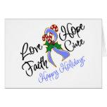 Días de fiesta de la esperanza del amor del cáncer tarjetas