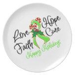 Días de fiesta de la esperanza del amor del linfom plato