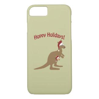 ¡Días de fiesta de lúpulo! canguro del navidad Funda iPhone 7