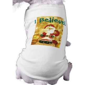 Días de fiesta de oro del navidad de Papá Noel Prenda Mascota