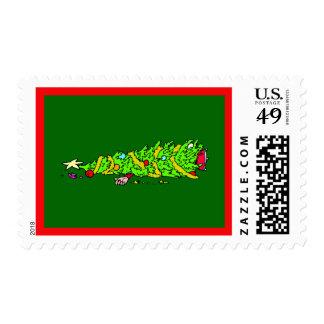 Días de fiesta del árbol de navidad sellos