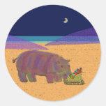 Días de fiesta del hipopótamo del pegatina