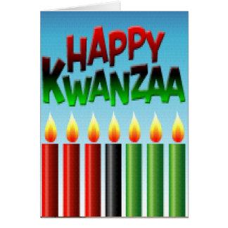 Días de fiesta del kwanza tarjeta de felicitación