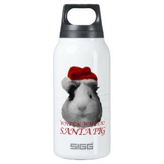 Días de fiesta del navidad del conejillo de Indias Botella Isotérmica De Agua