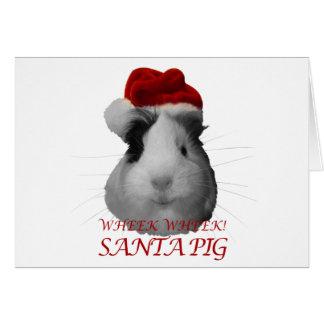Días de fiesta del navidad del conejillo de Indias Tarjeta De Felicitación