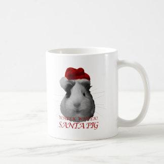 Días de fiesta del navidad del conejillo de Indias Taza De Café