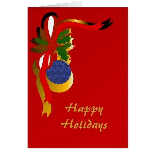 Días de fiesta del navidad tarjeta de felicitación