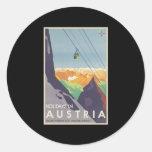 Días de fiesta en Austria Etiquetas Redondas