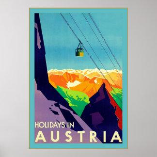 Días de fiesta en viaje del ~Vintage de Austria Posters