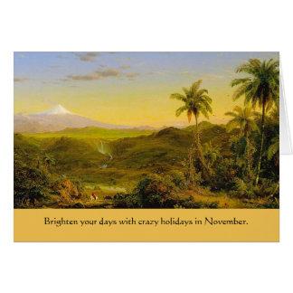 días de fiesta extraños de noviembre tarjeta de felicitación