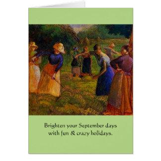 días de fiesta extraños de septiembre tarjeta de felicitación