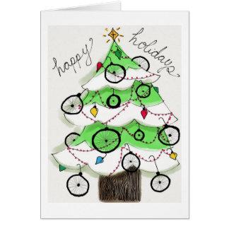 Días de fiesta felices de la bici tarjeta de felicitación