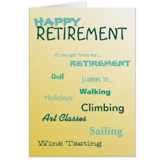Días de fiesta felices de la navegación del golf tarjeta de felicitación