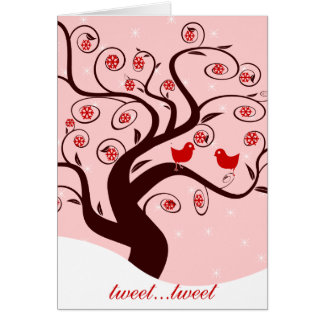 Días de fiesta lindos del dulce del árbol del tarjeta de felicitación