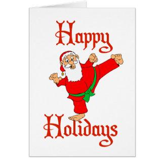Días de fiesta marciales del navidad del karate de tarjeta de felicitación