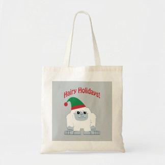 ¡Días de fiesta melenudos! Navidad Yeti Bolsa Tela Barata