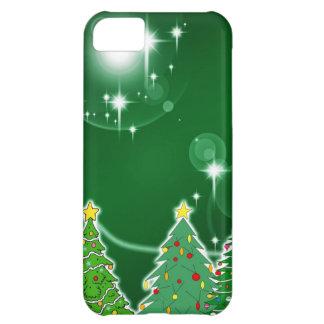 Días de fiesta verdes Gree de la caída de hielo de Funda iPhone 5C