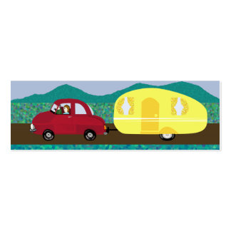 Días de fiesta, viajes de la caravana - detalles tarjetas de visita mini