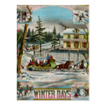 Días de invierno tarjeta postal