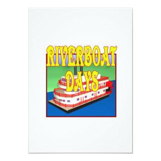 """Días de la barca invitación 5"""" x 7"""""""