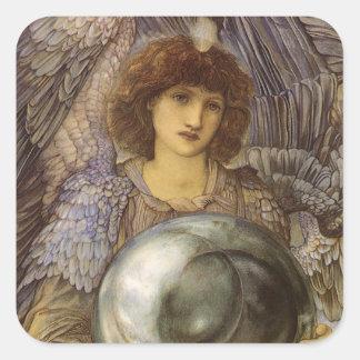 Días de la creación, primer día de Burne Jones Pegatina Cuadrada